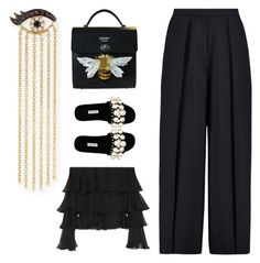 """""""Untitled #3926"""" by michelanna ❤ liked on Polyvore featuring Sydney Evan, Miu Miu, Iris & Ink and Balmain"""