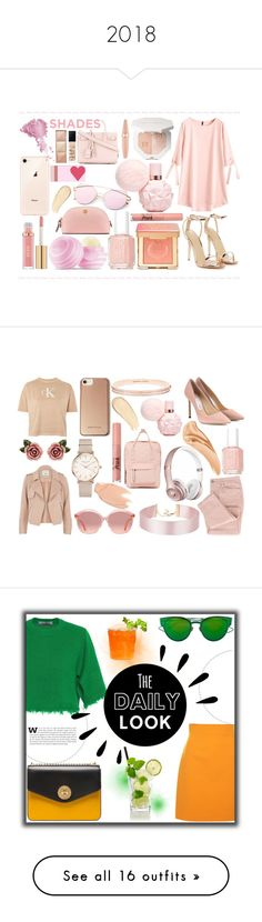 """""""2018"""" by emina01 ❤ liked on Polyvore featuring Nasty Gal, Too Faced Cosmetics, Essie, Eos, Tory Burch, Americanflat, Yves Saint Laurent, Maybelline, Bésame and Hourglass Cosmetics"""