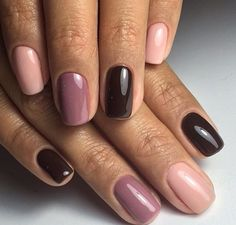 Pink Manicure Prepares For The Upcoming Summer Vacation - Page 14 of 20 - Dazhimen Love Nails, How To Do Nails, My Nails, Dark Purple Nails, Green Nails, Nagel Hacks, Nagel Gel, Fabulous Nails, Manicure And Pedicure