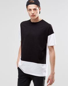 Image 1 ofASOS Oversized T-Shirt With Contrast Panelling