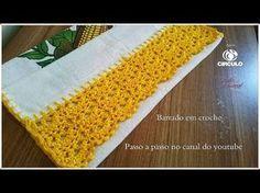 Barrado em croche (nível fácil) (aula para canhoto) - YouTube