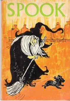 Spook 1974 Jane Little Vintage Scholastic Paperback Witch Dog Halloween