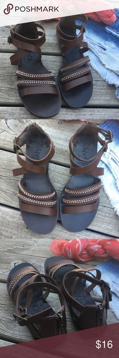 NWOB Blowfish sandals! Never worn, NWOB Blowfish sandals! Small discoloration on one strap. BDG shorts available in another listing. Blowfish Shoes Sandals