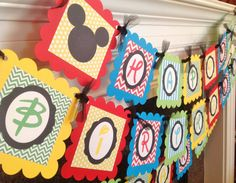 Happy Birthday Mickey Mouse Clubhouse by EmeraldCityPaperie