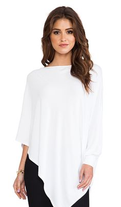 Poncho Top in White