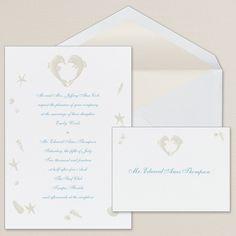 Dolphin Duo Wedding Invitation - $69.95 per 100