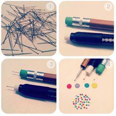 DIY nail dotting tool for polka dot toenails!!!