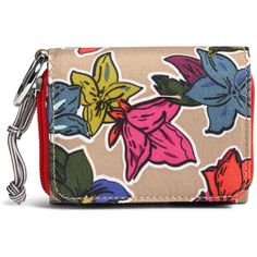 Vera Bradley Lighten Up RFID Card Case ($38) ❤ liked on Polyvore featuring bags, wallets, falling flowers neutral, travel wallet, snap closure wallet, zippered travel wallet, zip bag and lightweight travel bag