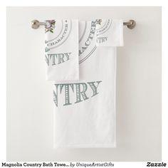 Shop Magnolia Country Bath Towel Set created by UniqueArtistGifts. Spa Towels, Bathroom Towels, Country Baths, Free Birthday Card, Bath Towel Sets, Washing Clothes, Magnolia, Luxury Bath, Gender