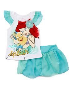 Another great find on #zulily! Ariel Angel-Sleeve Top & Tutu - Toddler & Girls by Disney Princess #zulilyfinds