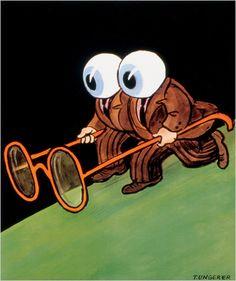 Tomi Ungerer, an artist equally at home with political art, children's books and dark erotica, returns to American bookstores. Gravure Illustration, Art Et Illustration, Hans Christian, New York Times Arts, Tv Movie, Political Art, Art Graphique, Eye Art, Art Store