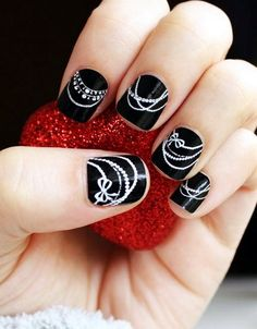 Short Nail Designs: Black Short Nail Ideas ~ Nail Designs Inspiration
