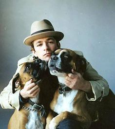 Boxer dogs and Luke Perry Boxer And Baby, Boxer Love, Baby Dogs, Doggies, I Love Dogs, Puppy Love, Cute Dogs, Der Boxer, Divas