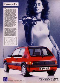 https://flic.kr/p/boq4Fp | Peugeot 205 (1990) GTI - Formsache | Formsache. Wer in Form sein will, muß auch etwas für die Form tun. Jedenfalls ist das unsere Maxime. Weit über 3 Mio. Autofahrer denken übrigens genauso wie wir: Sie fahren PEUGEOT 205. Falls Sie längst zu denen gehören, dürfen Sie umblättern. Wenn nicht, sollten Sie auf einer Probefahrt bestehen. Hier eine kleine Vorschau auf das Vergnügen. Den PEUGEOT 205 gibt es in 19 Modellvarianten. Mit allem drin, mit allem dran. Als…