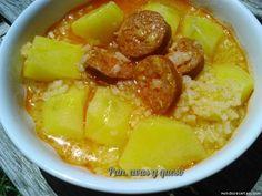 Patatas con arroz en Crock-Pot