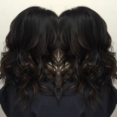 Subtle balayage ombre on dark hair