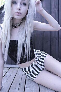 Striped shorts please... gosh I love stripes.