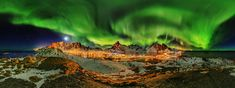 panorama Northern Lights in the Lofoten - Martin Kulhavy