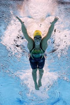 #RIO2016 Madeline Groves of Australia competes in the Women's 200m Butterfly Final on Day 5 of the Rio 2016 Olympic Games at the Olympic Aquatics Stadium on...