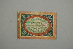 Taufbrief im Kuvert   wohl Sachsen, dat. 31. Mai 1830  Museum für Sächsische Volkskunst