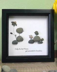 Excited to share this new ready made pebble picture now available from my shop: Grandma gift for Mothers Day Pebble art birds Grandparent Gift Mother's Day Gift for Grandma Pebble Art Mothers Day Gift for Mum Diy Mothers Day Gifts, Grandparent Gifts, Gifts For Mum, Grandma Gifts, Mother Day Gifts, Diy Gifts, Childrens Art Set, Pebble Art Family, Pebble Pictures
