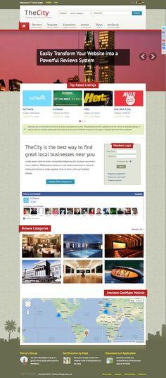 IT TheCity Joomla City Portal Directory Template