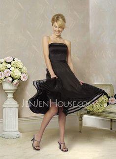 Bridesmaid Dresses - $85.99 - Charming A-Line/Princess Strapless Tea-Length Organza Bridesmaid Dress With None (007001813) http://jenjenhouse.com/pinterest-g1813