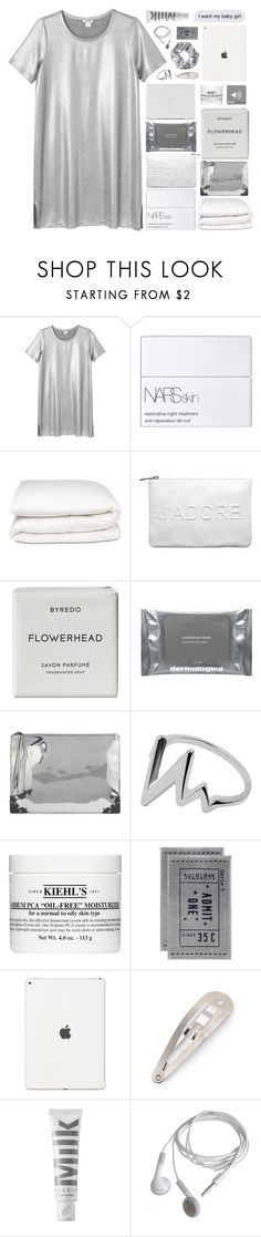 """""""❀ collab with Abby @amazing-abby"""" by trnslucid ❤ liked on Polyvore featuring Monki, NARS Cosmetics, Selfridges, Miss Selfridge, Byredo, Dermalogica, McQ by Alexander McQueen, Kiehl's, H&M and MILK MAKEUP"""
