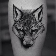 Wolf head line work