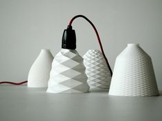 3D printed lampshapes