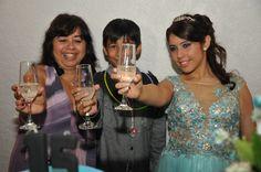 Brinde com a familia