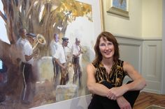 Photo of American painter Mary Whyte | Artist lives and works in South Carolina | Artist and her work!
