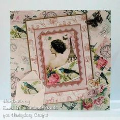 Made using the Little book of Vintage Lace for Hunkydory Crafts DT x