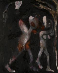"Saatchi Art Artist Michael Hayter; Painting, ""The Expulsion (after Masaccio)"" #art"
