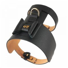 Bijou Leather Dog Harness Black
