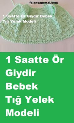 Diy Crafts - Creative Contents about DIY & Crafts, Knitting, Hairstyles, Beauty and more - Diy Crafts 1 Saatte R Giydir Bebek T Yelek Model 607986 Diy Crafts Knitting, Diy Crafts Crochet, Knitting For Kids, Crochet For Kids, Crochet Vest Pattern, Crochet Jacket, Baby Knitting Patterns, Diy Crafts Dress, Diy Dress