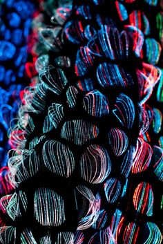 Glowing Textiles Steal This Year's Stockholm Furniture Fair. FIber Optic fabrics from the Swedish School of Textiles. Smart Textiles, E Textiles, Weaving Textiles, Textile Fabrics, Textile Patterns, Fashion Textiles, African Textiles, Floral Patterns, Sewing Patterns