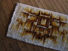 Danish abstract rya rug
