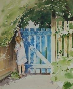 Sheena Lott, watercolor, The Way to Wonderland, Limited Edition Print, BC, CANADA  ( #Art #Painting)  http://www.sheenalott.com/
