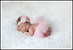 I think I want to order this to take pictures of her when she is born!! Via Etsy~Light pink dream cloud vintage inspired newborn  tutu/headband set