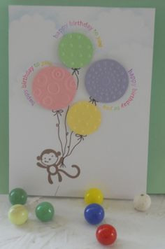 balloons for birthday by naniamy - Cards and Paper Crafts at Splitcoaststampers