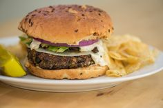 Hearty Portobello Veggie Burgers
