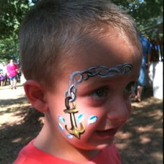 Face paint at the clothes line fair