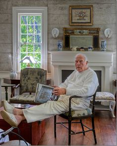 Furlow Gatewood relaxing after decorating four of his homes