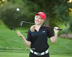 Jen | MN senior portrait photographer cute golf portrait – Kari Layland - MN portrait photographer Blog