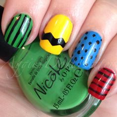 Charlie Brown Thanksgiving nails! Nicole by Opi