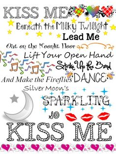Sixpence None The Richer - Kiss Me Okay I'm serious this is the cutest romantic most adorable song ever!!! I listen to it all the time!