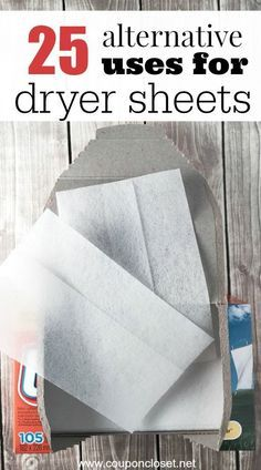27 Alternative Uses for Dryer Sheets that will help you save money!