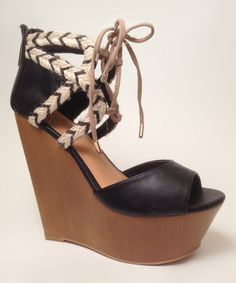 Dollhouse Black Vacation Wedge | zulily