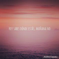 Este mensaje fue compartido vía Andrés Cepeda Decir No, My Life, Wisdom, Thoughts, Humor, Sayings, Words, Quotes, Frases